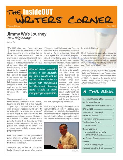 Writers Corner Vol2 Iss 2 Fall 2012
