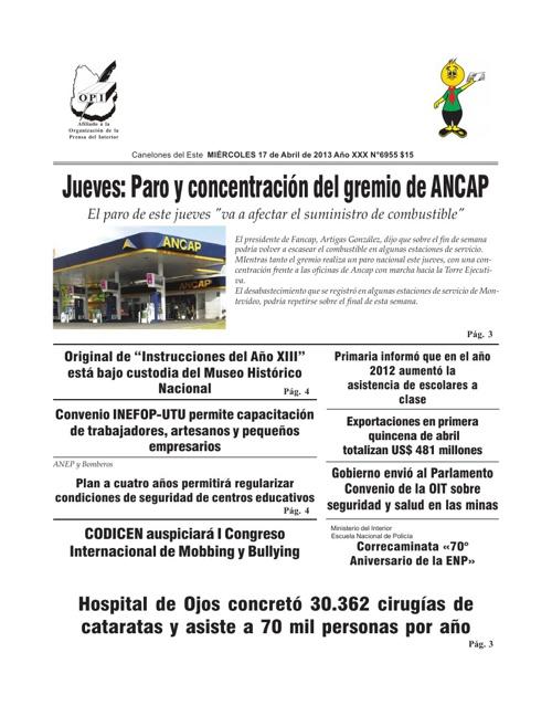 Diario Tiempo Edición 17-04-2012