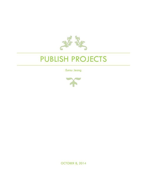 publish projects