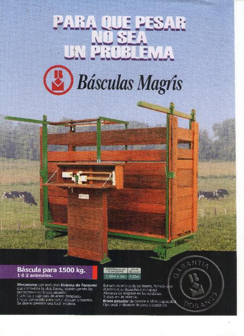 BasculasMagris ParaAnimales 1500 3000 5000