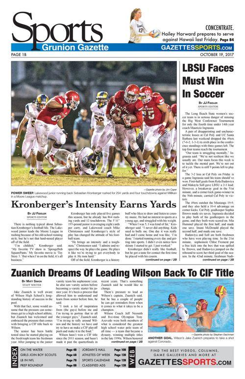 Gazette Sports 10-19-17