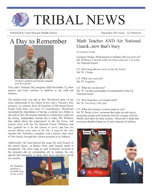Tribal News - December Issue