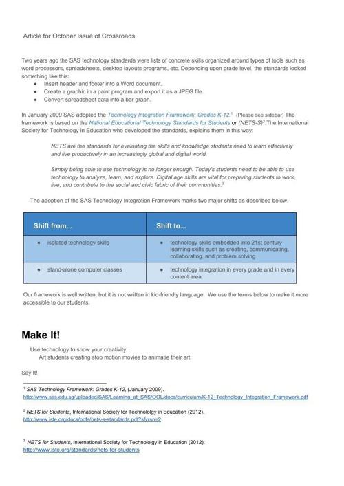 SAS TechIntegration Framework