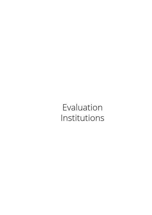 Evaluation - institutions