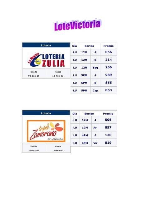 Loteria Prueba