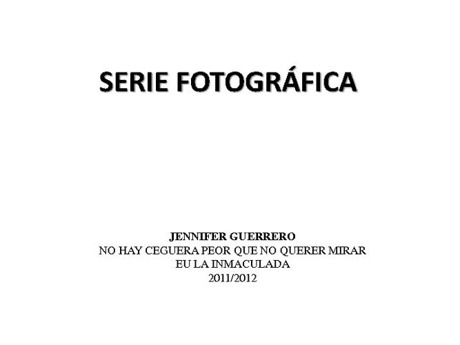 Serie Fotográfica