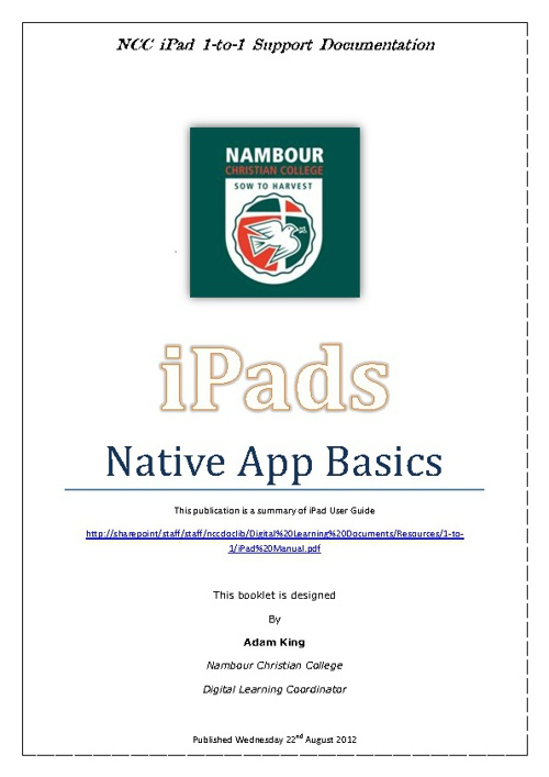 iPad - Native App Basics
