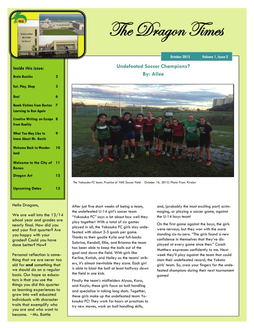 The Dragon Times- October 2013