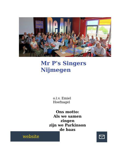 Teksten optreden Mr P's Singers