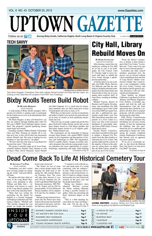 Uptown Gazette  |  October 25, 2013