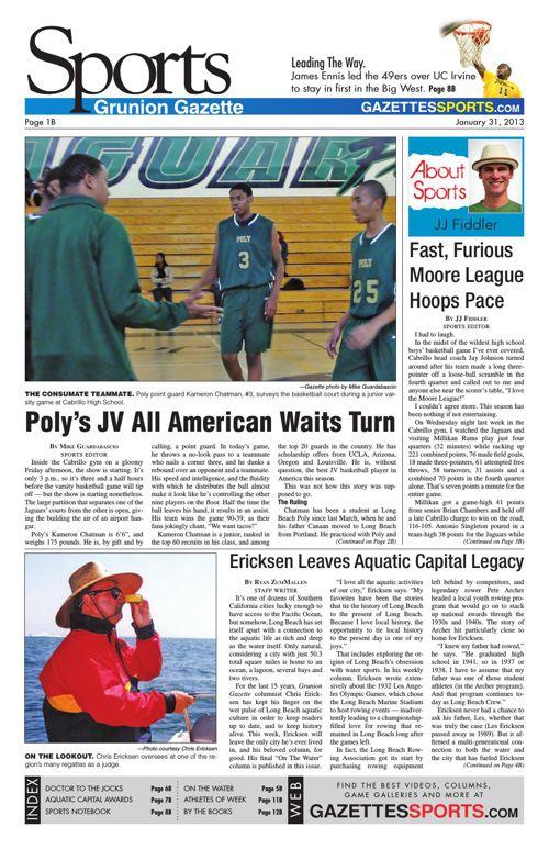 Gazette Sports   January 31, 2013