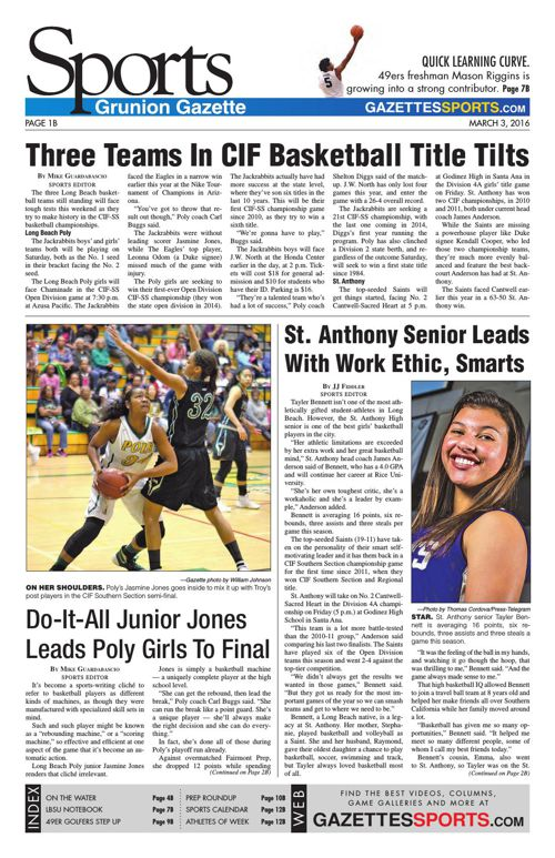 Gazette Sports | March 3, 2016
