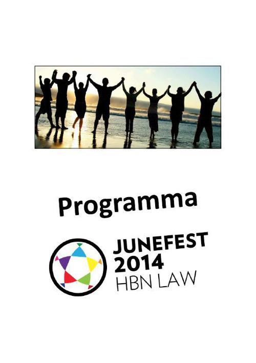 Programmaboekje Junefest 2014
