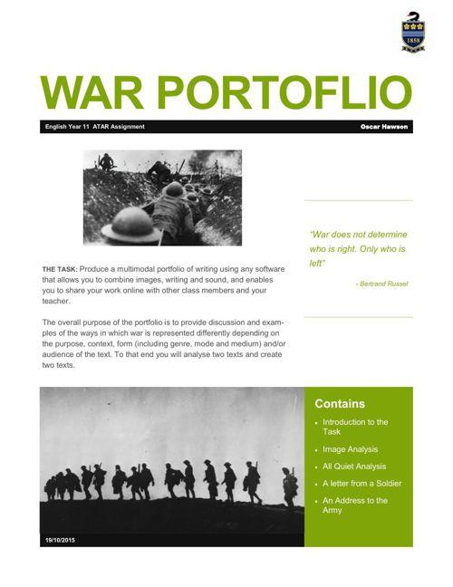 War Portfolio