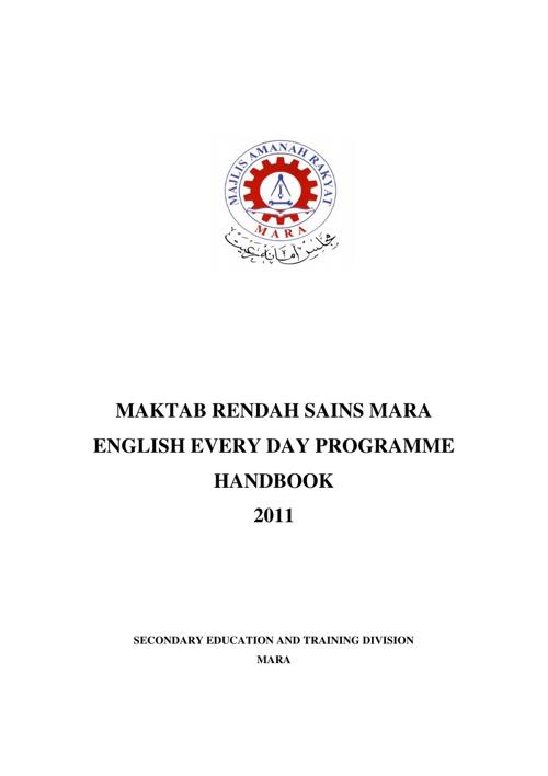 English EEDP Handbook