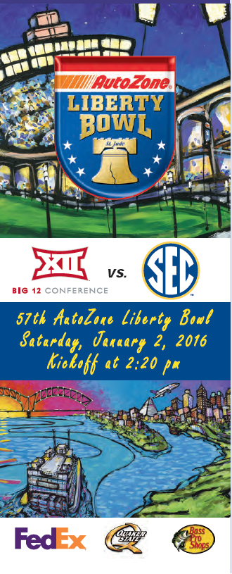57th AutoZone Liberty Bowl Ticket Brochure