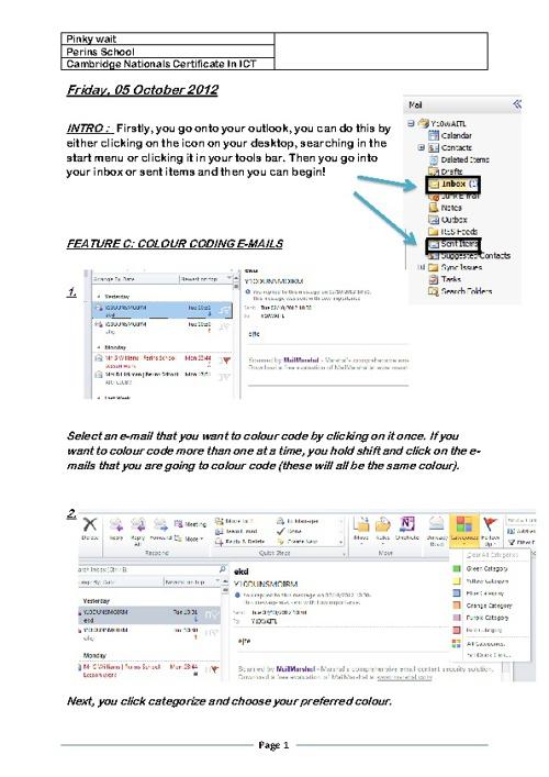 Colour Coding E-mails