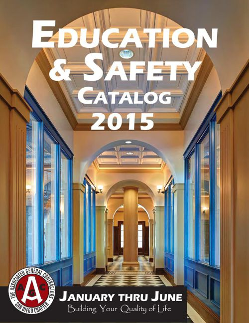 AGC San Diego 2015 Construction Education & Safety Training Cata