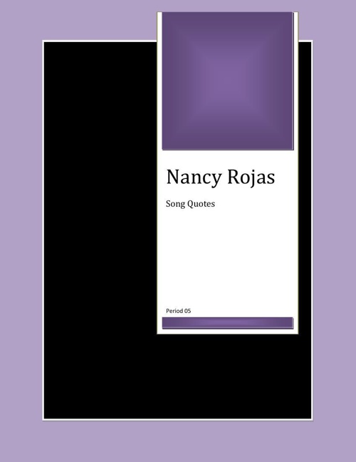 Nancy's book