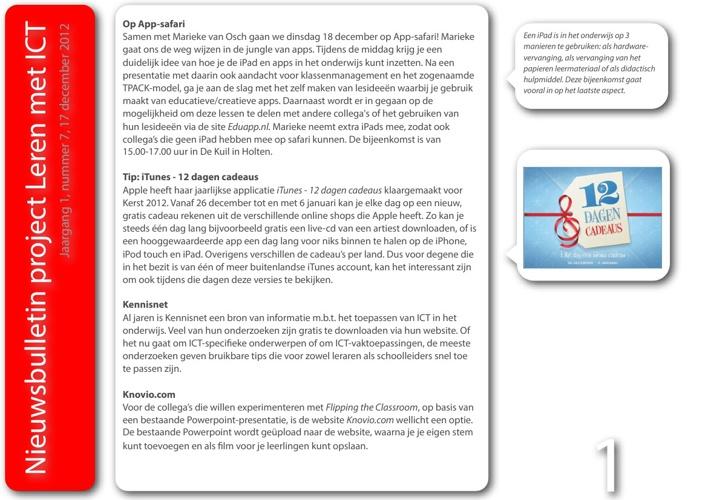 Nieuwsbulletin Leren met ICT, jaargang 1, nummer 7