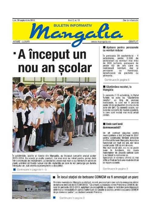 Ziar Mangalia septembrie 2013