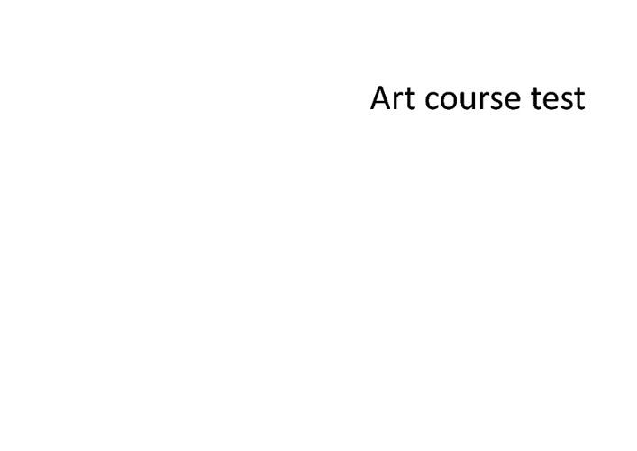 artcoursetest