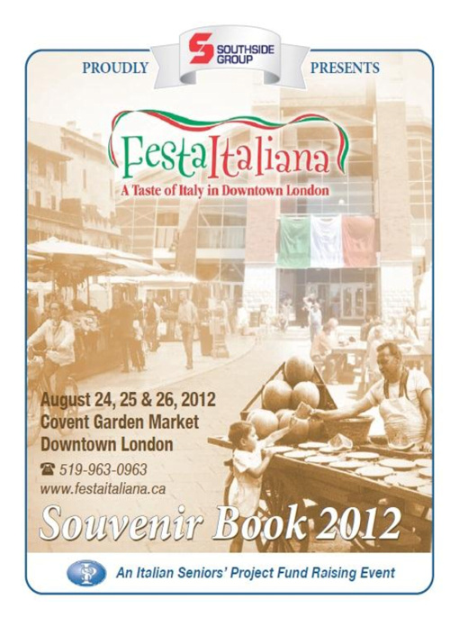 2012 Festa Italiana Program Book