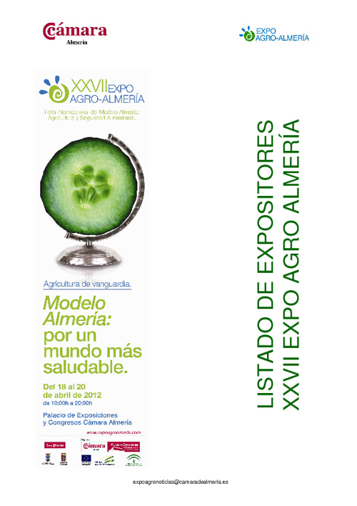 Listado Expositores Expo agro - Almería 2012