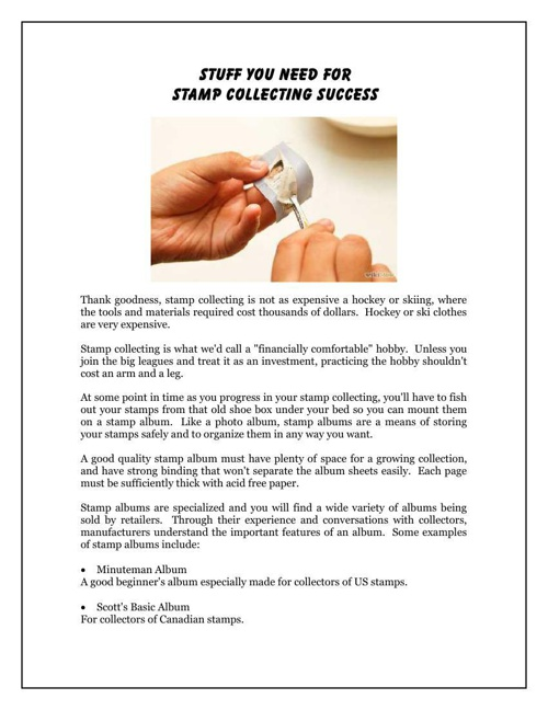 Stuff You Need For Stamp Collecting Success