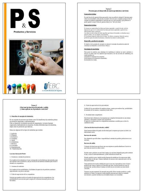 revista desarrollo de productos y servicios