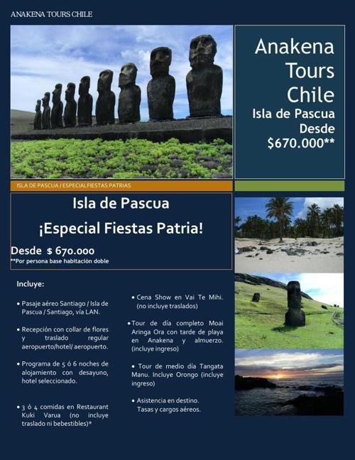 Isla de Pascua especial Fiestas Patrias
