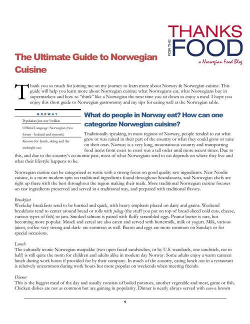 ultimate guide to norwegian cuisine