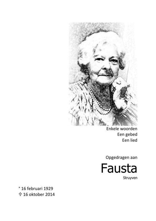 Afscheid Fausta Struyven