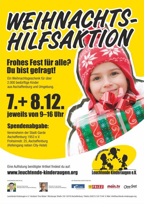 Plakat 2013 Kinderhilfsaktion Leuchtende Kinderaugen e.V.