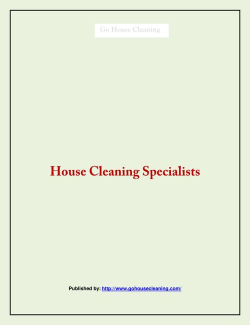House Cleaning Specialists (1)