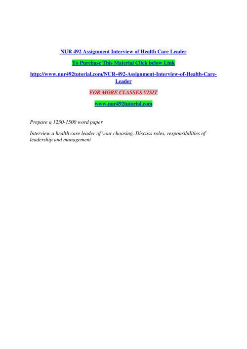 NUR 492 TUTORIAL Real Success/nur492tutorial.com