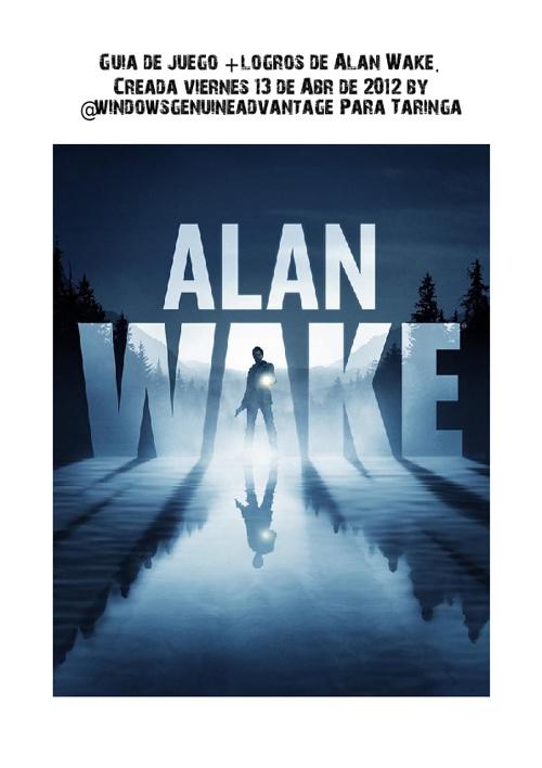 Guia completa Alan Wake + logros