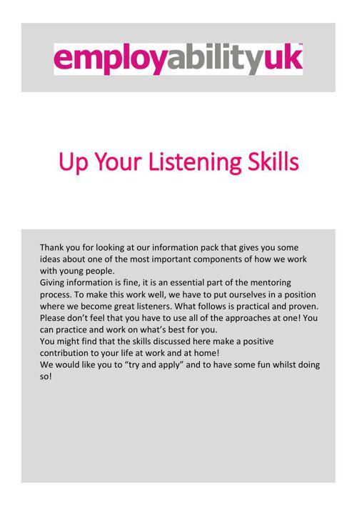Combined Listening Skills