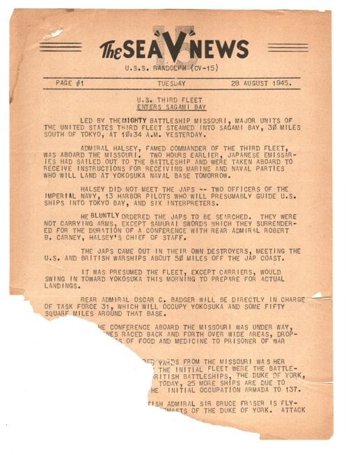 28 AUG 1945 SEA V NEWS