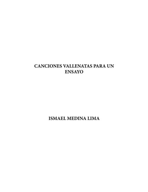 Canciones valletanatas para un ensayo