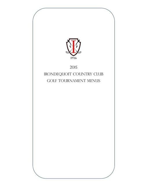 2014.2015 Golf Menu