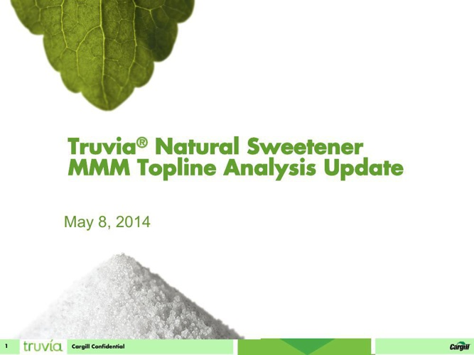 Truvia MMM Analysis For Woodford