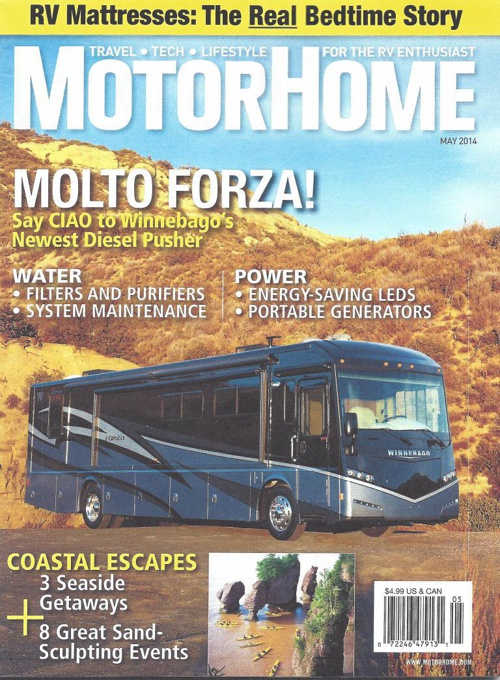 Motorhome Magazine May 2014 - How to Shop for RV Mattresses