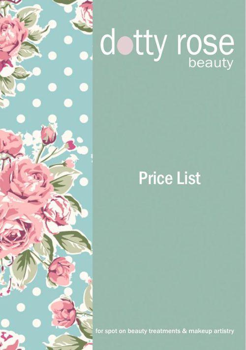 Dotty Rose Price List