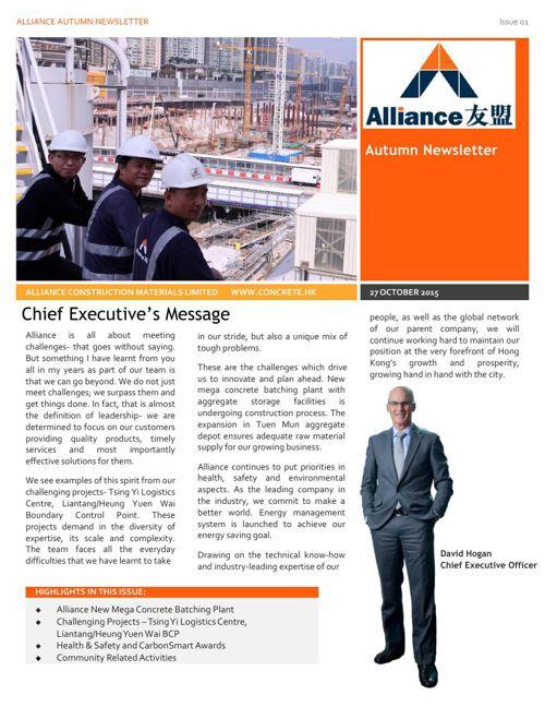 Alliance Autumn Newsletter-English