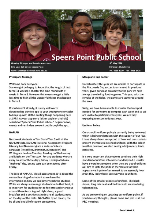 Term 2 Week 2 Newsletter