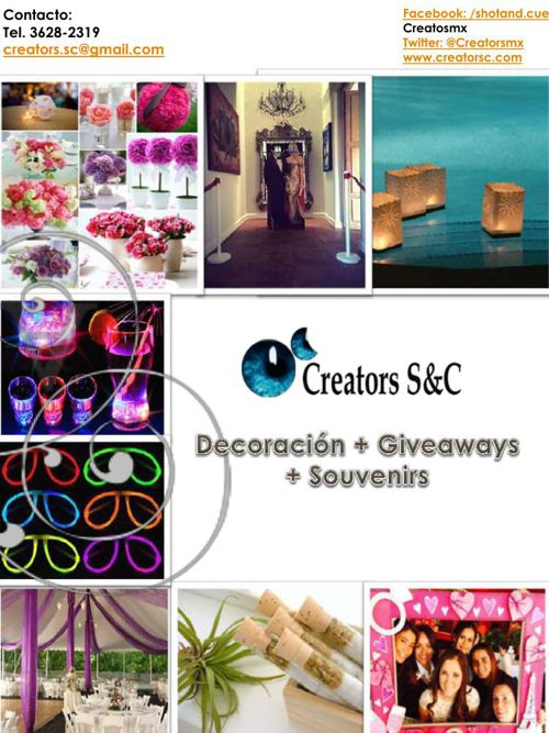 Decoracion-Giveaways-Souvenirs Creators