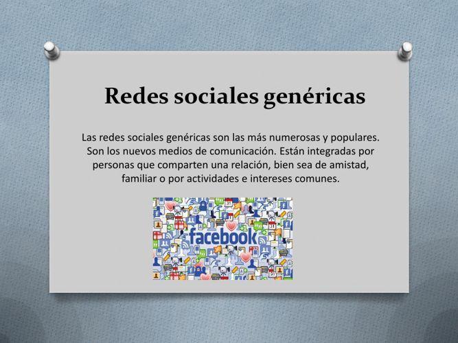 Redes sociales genéricas