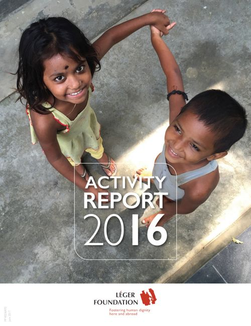 LÉGER FOUNDATION | Activity report 2016