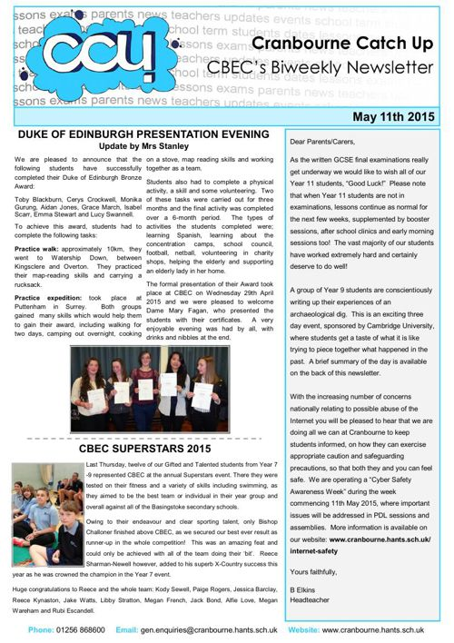 CCU - 11th May 2015